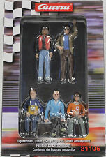 CARRERA 21106 5 - FIGURE SET NEW IN DISPLAY BOX 1/32 SLOT CAR FIGURES