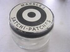 Vintage Marble's Satchi-Patches Empty Glass Container