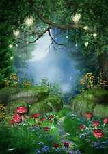 Magic Forest 8'x12' CP Backdrop Computer-painted Scenic Background zjz-445