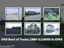 Trains in Northern Illinois Best of 1990-1 hour 18 min-SOO-CNW-BN- all seasons