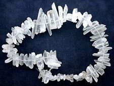NATURAL CLEAR CRYSTAL QUARTZ CRYSTAL POINT BEAD 15 INCH STRAND CRS28