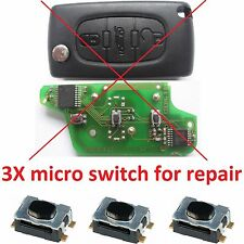 Peugeot 307 407 308 607 207 807 BOXER REMOTE KEY FOB REPAIR MICRO SWITCH BUTTON