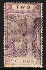 NEW ZEALAND — SCOTT AR19 — £2 POSTAL FISCAL — PERF 12½ — USED