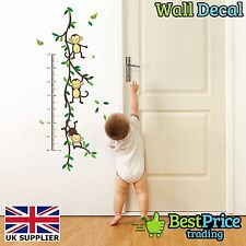Monkey Kids Height Chart Vinyl Wall Decal Sticker Home Decor *Children's Bedroom
