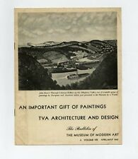 1941 MoMA Bulletin TVA ARCHITECTURE + DESIGN Exhibit Announcment ACQUISITIONS
