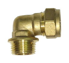 "15mm Compression x 3/4"" BSP Male Iron Elbow 