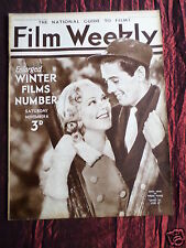 FILM WEEKLY - UK MOVIE MAGAZINE - CLARK GABLE- RICHARD ARLEN -  6 NOV 1937