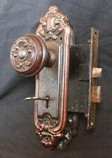 2 avail Antique Vintage Neo Classical Interior Door Lockset Knob Plate Lock Key