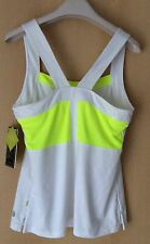 Pure Lime Sport Fitness Top Bianco/Lime tg. 38 (M) 10-12 UK