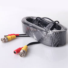 New 60ft BNC CCTV Video DVR Wire Cord Power Cable For CCTV Security Camera