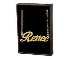 "Name Necklace ""RENEE"" - 18ct Gold Plated - Wedding Bridesmaid Accessories Gifts"
