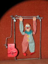Vintage JAPAN T N TN Nomura Toys Key Wind-Up Toy Clown on Trapeze SOMERSAULT
