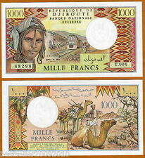 DJIBOUTI 1000 FRANCS UNC OLD ISSUE BEAUTIFUL BANK NOTE  RARE ITEM # 308