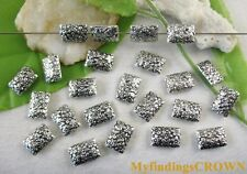 150pcs Tibetan silver floral square spacer bead FC8679