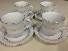 4 Thun Porcelain Demitasse Expresso Fine China Cups And Saucers