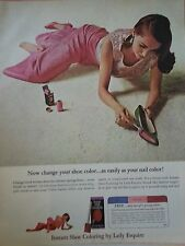 1964 Instant Shoe Coloring By Lady Esquire Pretty Woman Original Ad