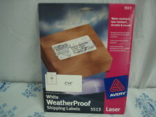 "Avery White Laser Shipping Labels 2"" x 4"" Weather Proof, Tear Resistant #5133"