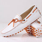 US6-10 New Leather tie Casual Loafer slip on mens car shoes driving  moccasin