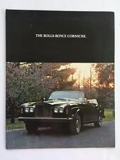 1977 1978 Rolls Royce Corniche Coupe Convertible Original Car Sales Brochure
