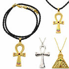 Vintage Egyptian Ankh Cross Symbol Of Life Pendant Necklace Gold Silver Charm