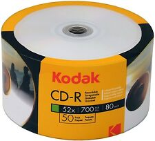 Kodak CD-R 50Stk. 80Min 700Mb 52x inkjet full printable 50er Shrink Bedruckbar