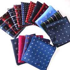 Pick 10 PCS Mans Cartoon Pocket Square Silk Hankie Handkerchiefs  Wedding 10""