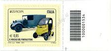 2013 francobollo Europa: Il Veicolo del Portalettere 0,85 SX CODICE A BARRE 1534