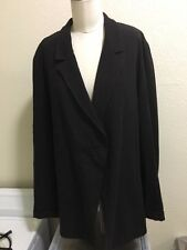 LILITH OF FRANCE LARGE UNSTRUCTURED ASYMETRIC CHARCOAL RAYON WOOL COAT/BLAZER