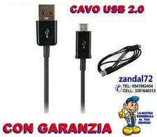 CAVO DATI MICRO USB NERO X TABLET BLACKBERRY HUAWEY HP FOTOCAMERA TOM TOM ZTE