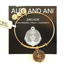 Alex and Ani NWT New Nautical Anchor in Russian Gold with card in white gift box