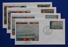 Marshall Islands (521-524) 1995 WWII: V-J Day Official FDCs