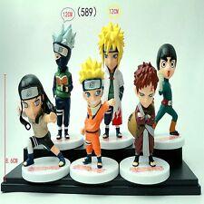 6 pcs a set Japan Anime Naruto PVC Figure Q Edition Pendants Toys TN487