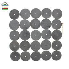 100pc 32mm Fiberglass Reinforced Cut Off Wheel Cutting Disc 3mm Shank Fit Dremel
