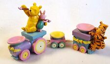 Winnie the Pooh Easter Train Tigger Piglet Egg Display Carved Painted Wood
