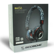 Scosche On Ear Headphones Camouflage w/ TapLine Remote for iPhone iPadiPod MP3