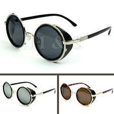 Steampunk Gafas De Sol 50s Redondo Gafas Lentes Cyber Retro Vintage Estilo Blinder