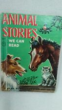 "vintage childrens illustrated book""Animal Stories""a Rand Mcnally Junior Elf Book"