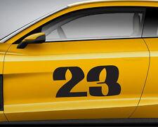 Numeri Corsa Graffiti 07. Personalizzata Auto Vinile Porta Adesivo. TRACK tracce di trasferimento.