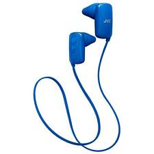 JVC HAF250BT/BLUE 3 Button IPX2 Gumy Sports Bluetooth Ear Headphones - Blue