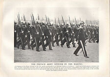 1918 WW1 WORLD WAR I PRINT COMPANY OF THE ECOLE MILITAIRE OF ST CYR FRENCH ARMY