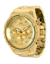 NEW VESTAL ZR-3 CHRONOGRAPH MEN'S WATCH | BRUSHED GOLD STAINLESS STEEL ZR3020