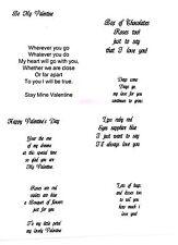 20 X Preimpreso San Valentín insertos de tarjetas para tarjeta de fabricantes (A6)