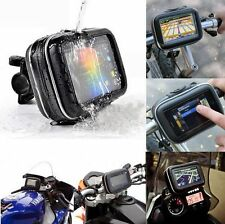 5'' Waterproof GPS Garmin Nuvi Phone Case Motorcycle Bike Handlebar Mount Holder