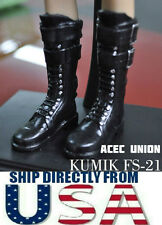 U.S. SELLER - KUMIK1/6 Scale Black Widow Catwoman Black Long Boots FS-21