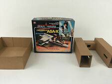 replacement vintage star wars glasslite asa-x  x-wing box + inserts