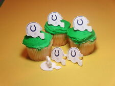 12 Indianapolis Colts NFL Football Cupcake Rings Toppers Decoration Party Favors