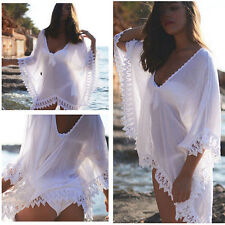 Women Sexy Bathing Suit Lace Crochet Bikini Swimwear Cover Up Summer Beach Dress