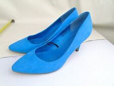 PAIR OF H&M H & M BABY BLUE SUEDE IDEAL FOR WEDDING BRIDESMAID SHOES