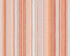 Paper Wallpaper AS OILILY HOME 96127-1 LW - stripes with Pattern Orange White