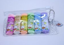 6 Per Pack Cylindrical Erasers 6 Colors Lovely Bear Eraser6 Per Pack Cylindrical